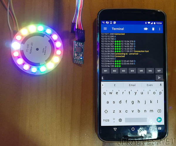 Use Bluetooth 4.0 HC-08 Module to Control Addressable LEDs - an Arduino Uno Tutorial
