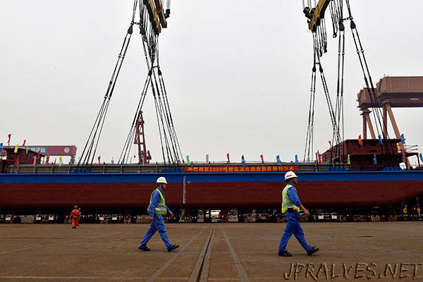 Fully electric cargo ship launched in Guangzhou