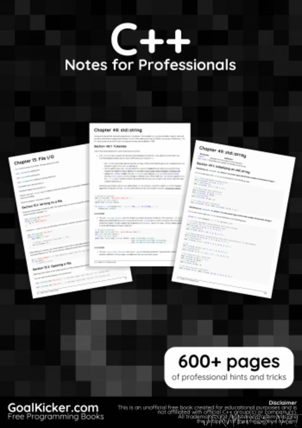 Cplusplus Notes for Professionals book