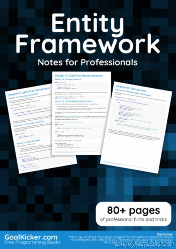Entity Framework Notes for Professionals book