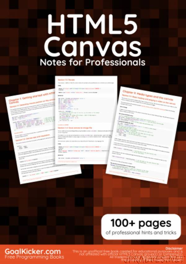 HTML5 Canvas Notes for Professionals book