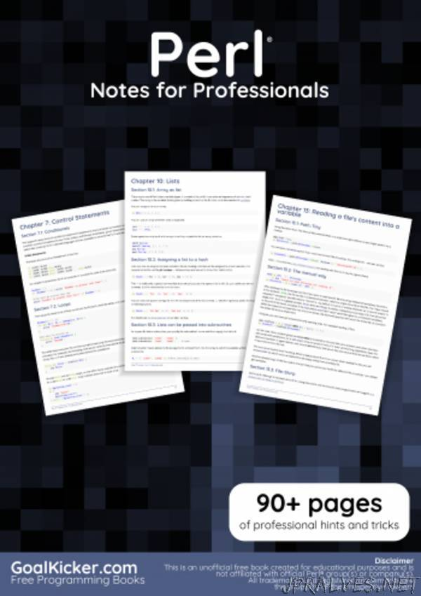 Perl Notes for Professionals book