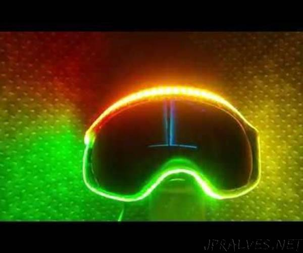 Interactive Neopixel Skigoogle, Rgb Is Life