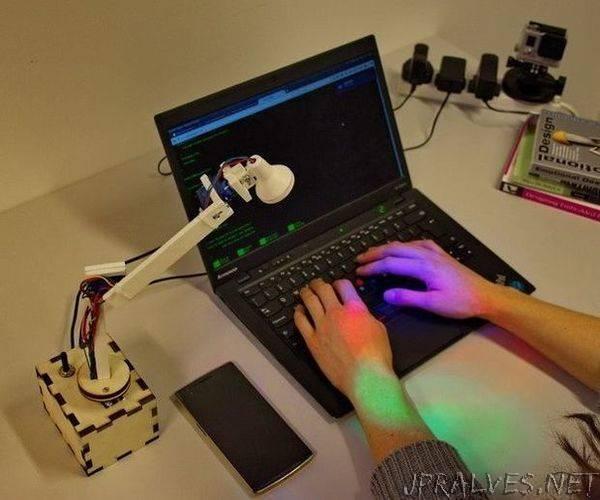An Actuated Desktop Lamp