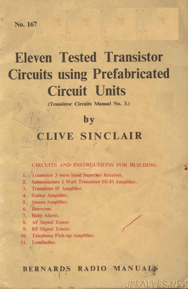 Eleven Tested Transistor Circuits using Prefabricated Circuit Units