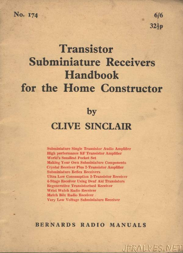 Transistor Subminiature Receivers Handbook for the Home Constructor