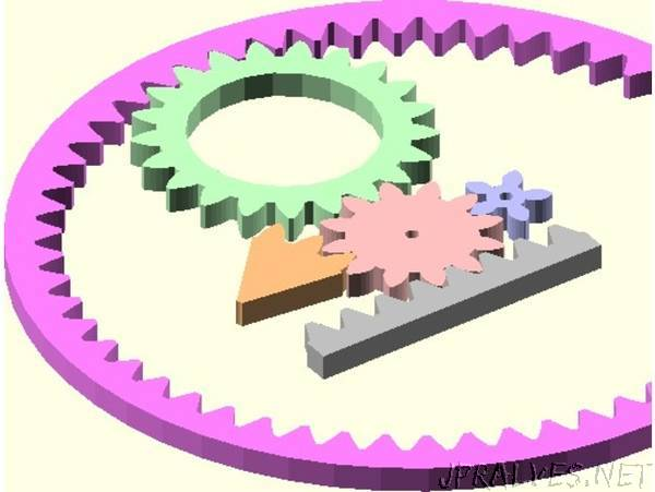 Public Domain Involute Parameterized Gears: Powered Up