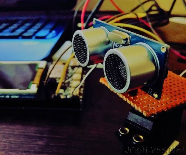 Arduino and Ultrasonic Sensor Based Radar on SLabs-32 IOT Board