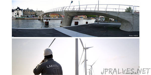 New research into the use of composite materials aims to reduce bridge costs and provide more durable wind turbines