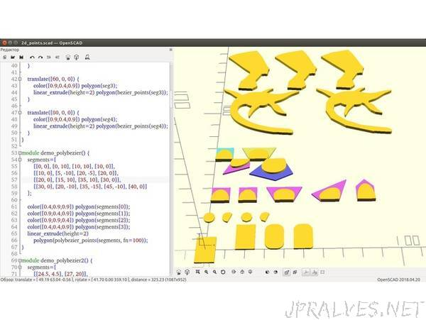 2d_points: generate 2D shapes as arrays of points in OpenSCAD