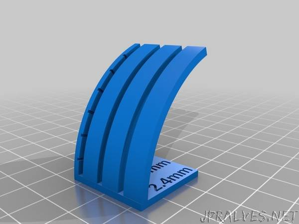 Customizable Curved Overhang Tester