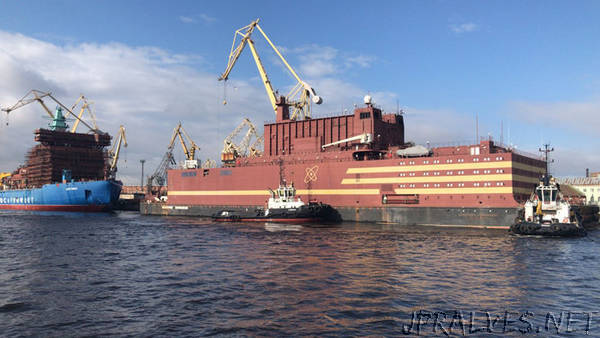 The world's only floating power unit 'Akademik Lomonosov' takes the sea