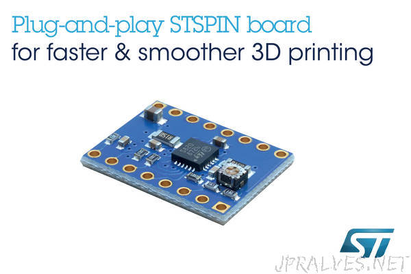 High-Speed, High-Resolution Motor-Driver Board from STMicroelectronics Maximizes Open-Source 3D-Printer Performance