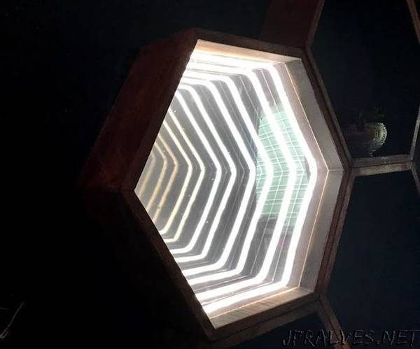 Hexagon Infinity Mirror With LED Lights and Laser Wire