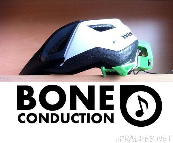 DIY Bone Conduction Bike Helmet