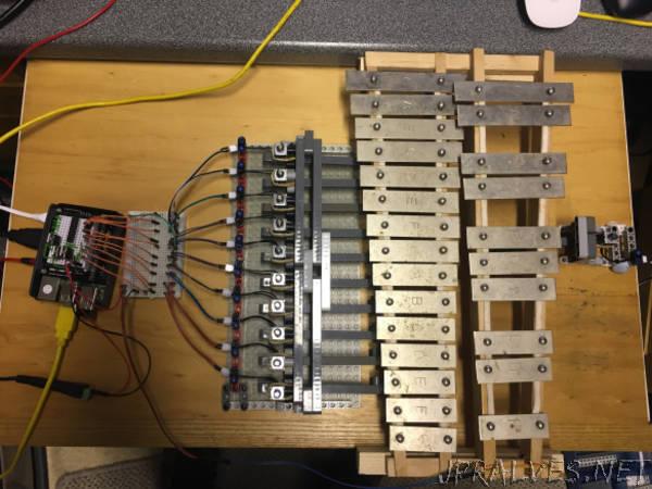 A Sonic Pi controlled Glockenspiel