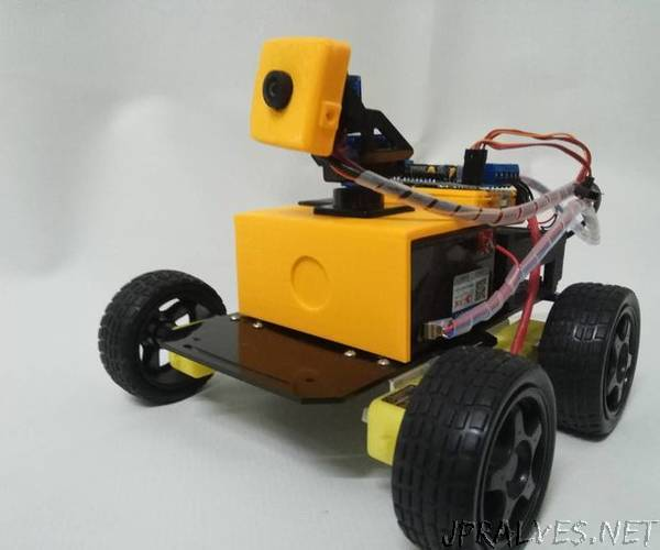 Banana/Raspberry Pi + Arduino Rover With Webcam