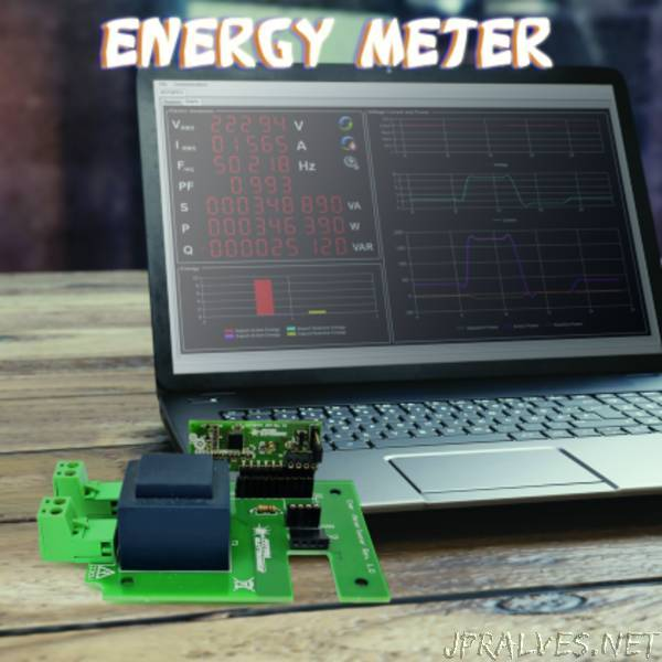 Energy Meter module to analyze the electrical grid parameters and consumption