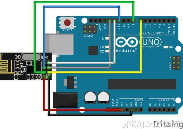 Communication between two Arduinos using NRF24L01