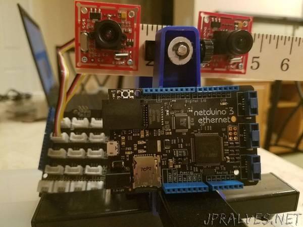 Stereo Vision on Netduino