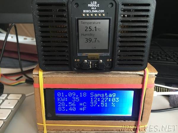 MyLCD20x4 Clock with Value-Added Information