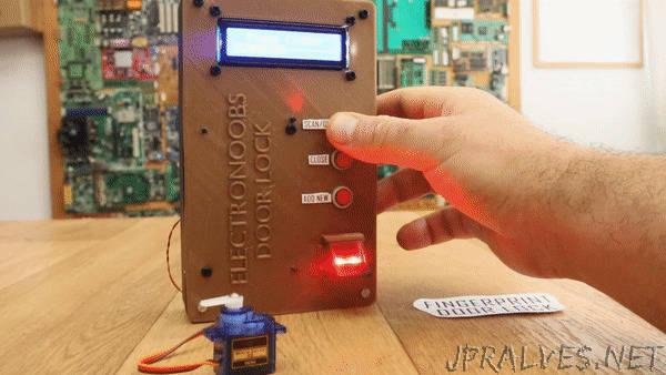 Fingerprint Sensor Door Lock And Blackbox