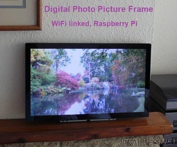 Digital Photo Picture Frame, WiFi Linked  Raspberry Pi