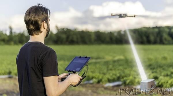 Using diamonds to recharge civilian drones in flight
