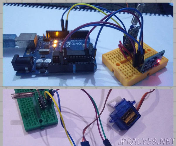 Controlling Servo Using MPU6050 Between Arduino and ESP8266 With HC-12