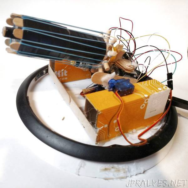 Rubber Band Gatling Gun Turret (Arduino)