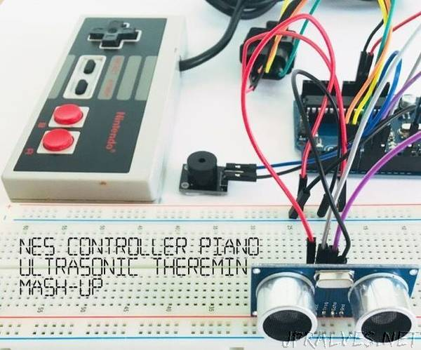 NES Controller Piano / Ultrasonic Theremin Mash-Up