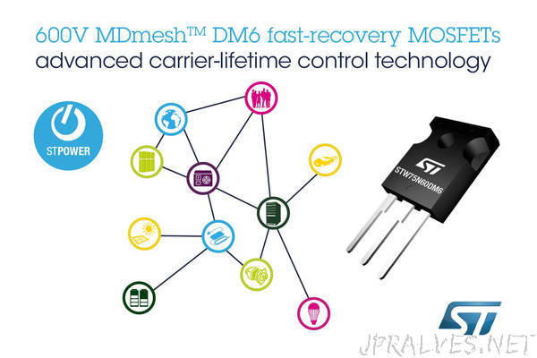 Fast-Recovery Super-Junction MOSFETs from STMicroelectronics Bring Superior Performance to Bridge and ZVS Converters