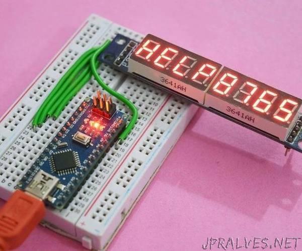 Arduino Nano - 8 Digit Segment Display