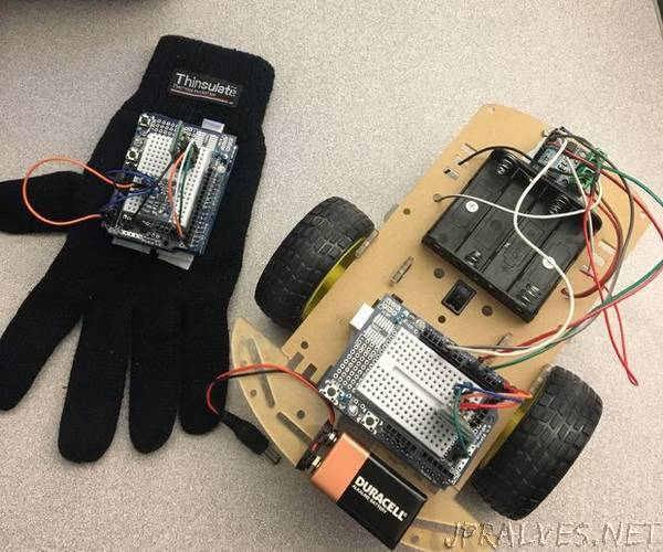 Hand Gesture Controlled RC Car
