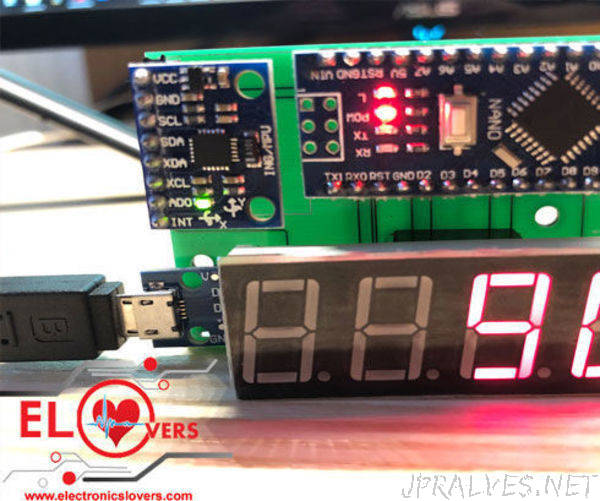 Digital Spirit Level a DIY Project Module by Electronicslovers