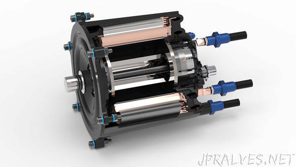 Directly-cooled electric motor made from polymer materials