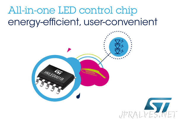 STMicroelectronics Reveals State-Of-The-Art Lighting Controller for Even Greater Energy Savings with Convenience and Simplicity