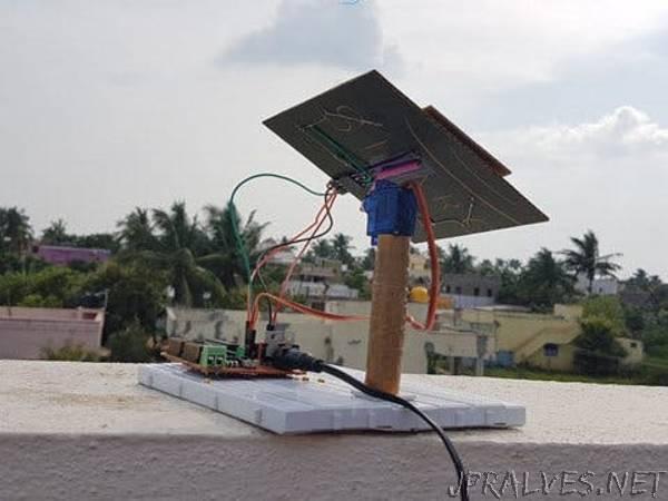 NodeMCU-Based IoT Project: Rotating Solar Panel