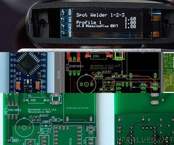 Spot Welder 1-2-3 Arduino Printed Circuit Board