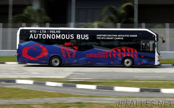 Volvo to test full-size driverless bus in Singapore
