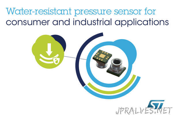 Water-Resistant MEMS Pressure Sensor from STMicroelectronics Targets Budget-Conscious Consumer and Industrial Applications