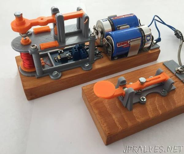 3D Printed Telegraph Key & Sounder
