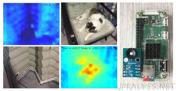 Making a DIY thermal camera based on a Raspberry Pi