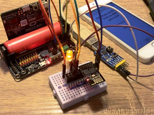 WiFi Web Server on BBC micro:bit and ESP-01 (ESP8266) - jpralves net