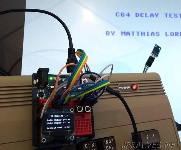 Video/Audio Delay Test Arduino Leonardo + TSL 2561 (Light