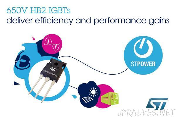 STMicroelectronics' 650V High-Frequency IGBTs Boost Performance with Latest High-Speed Technology