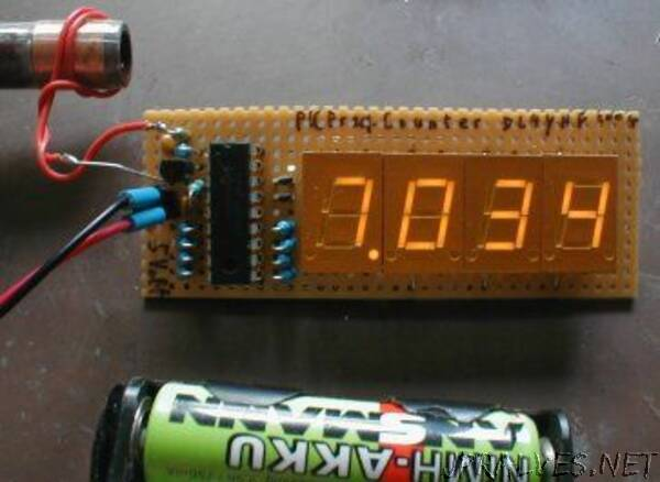 Frequency counter with a PIC and minimum hardware