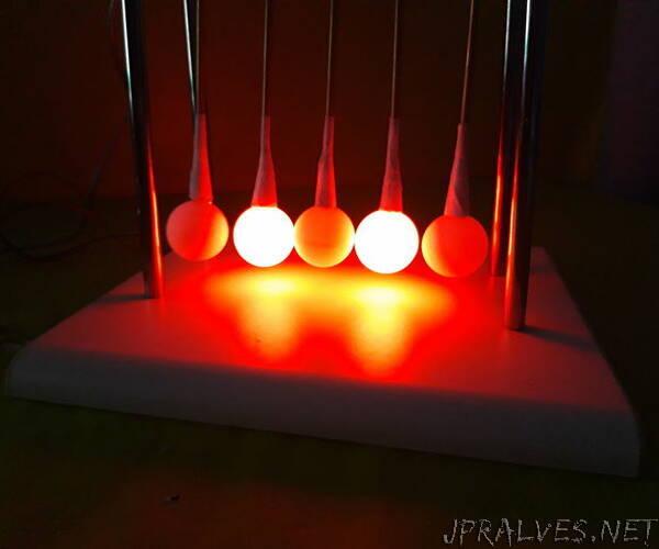 RGB LED Newtons Cradle