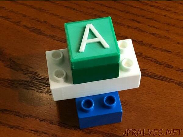 Adjustable Improved Duplo Brick Generator with Text