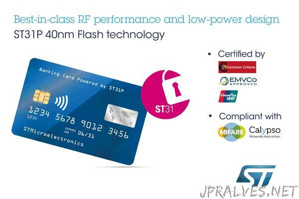 Dual-Interface Secure Microcontroller from STMicroelectronics Boosts Safety and Convenience in Contactless Banking and e-Identification Applications
